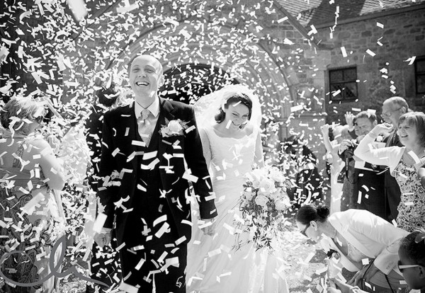 Konfettikanone-Hochzeit